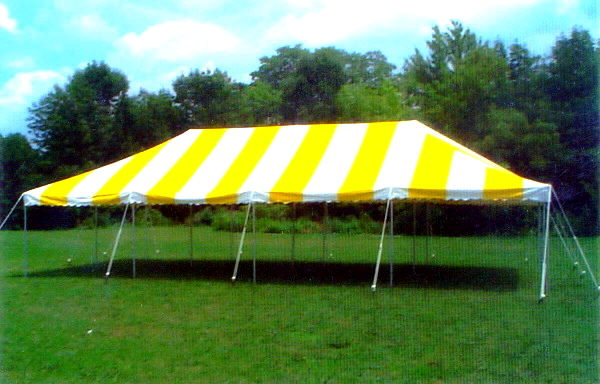 Where to find Canopy 20 x 40 - Yellow White in South Chicago Heights