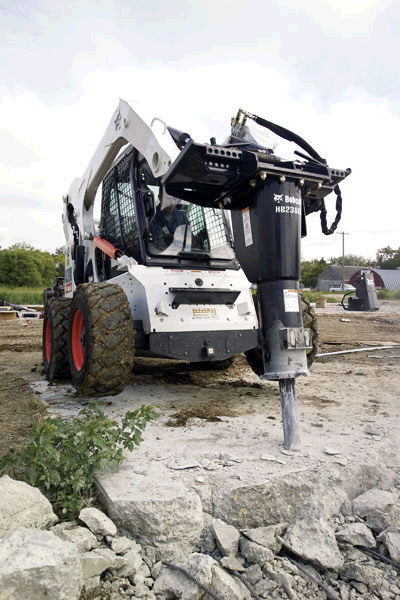 Where to find Bobcat S570 w concrete hammer in South Chicago Heights
