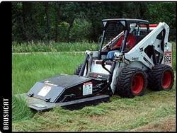 Where to find Bobcat S570 w 60  bushog mower in South Chicago Heights